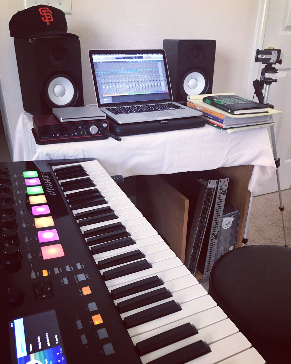 Finishing up this wkends music! It's gonna be a lot of fun.. • • • #IDVIWorship #musicianlife #productionlife #homestudio #Akai #LogicProX #MacBookPro #YamahaHS5 #Focusrite<br>http://pic.twitter.com/x4qCs5nRCg