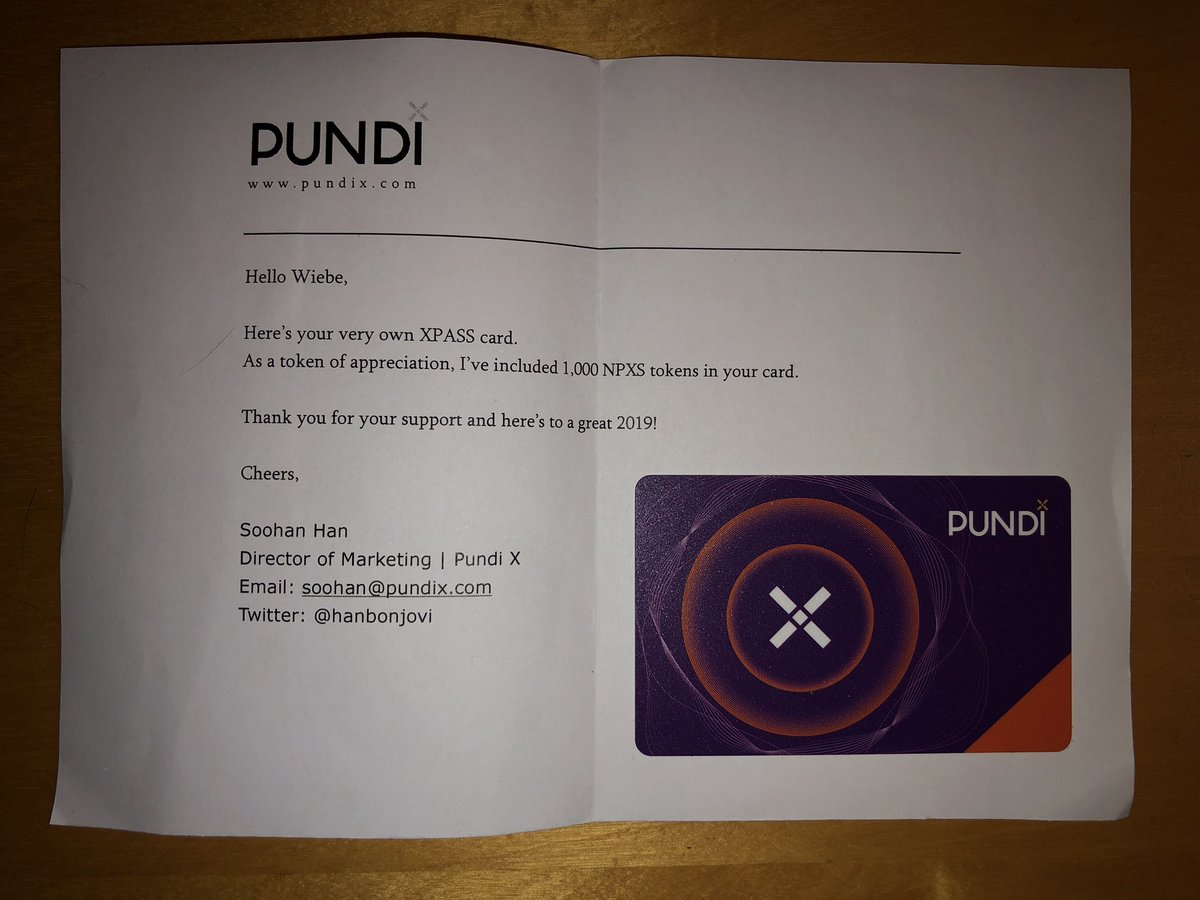 Just received the xpass from the #XPASS #Valentines day giveaway. Thank you so much @hanbonjovi @PundiXLabs. We're writing history here!<br>http://pic.twitter.com/FR9OWbU44h