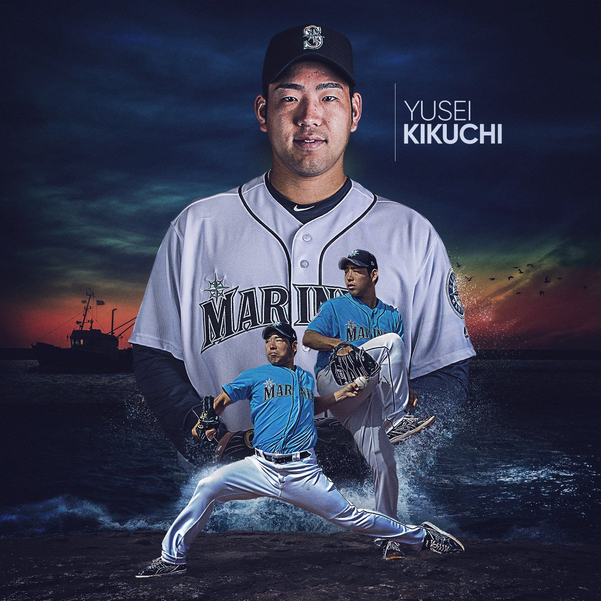MLB's photo on Kikuchi