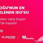 Image for the Tweet beginning: MenaPay token satışı bugün KLASCOIN'de