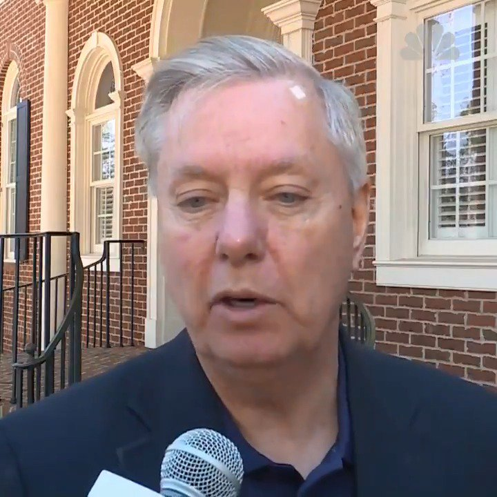 Lindsey Graham just blamed Trump's attacks on McCain on The Resistance. Graham is a lunatic.