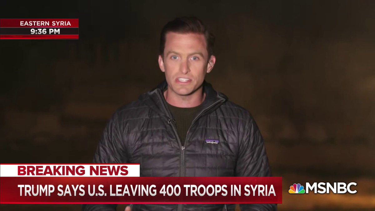 Image for the Tweet beginning: WATCH: @MattMcBradley reports live from