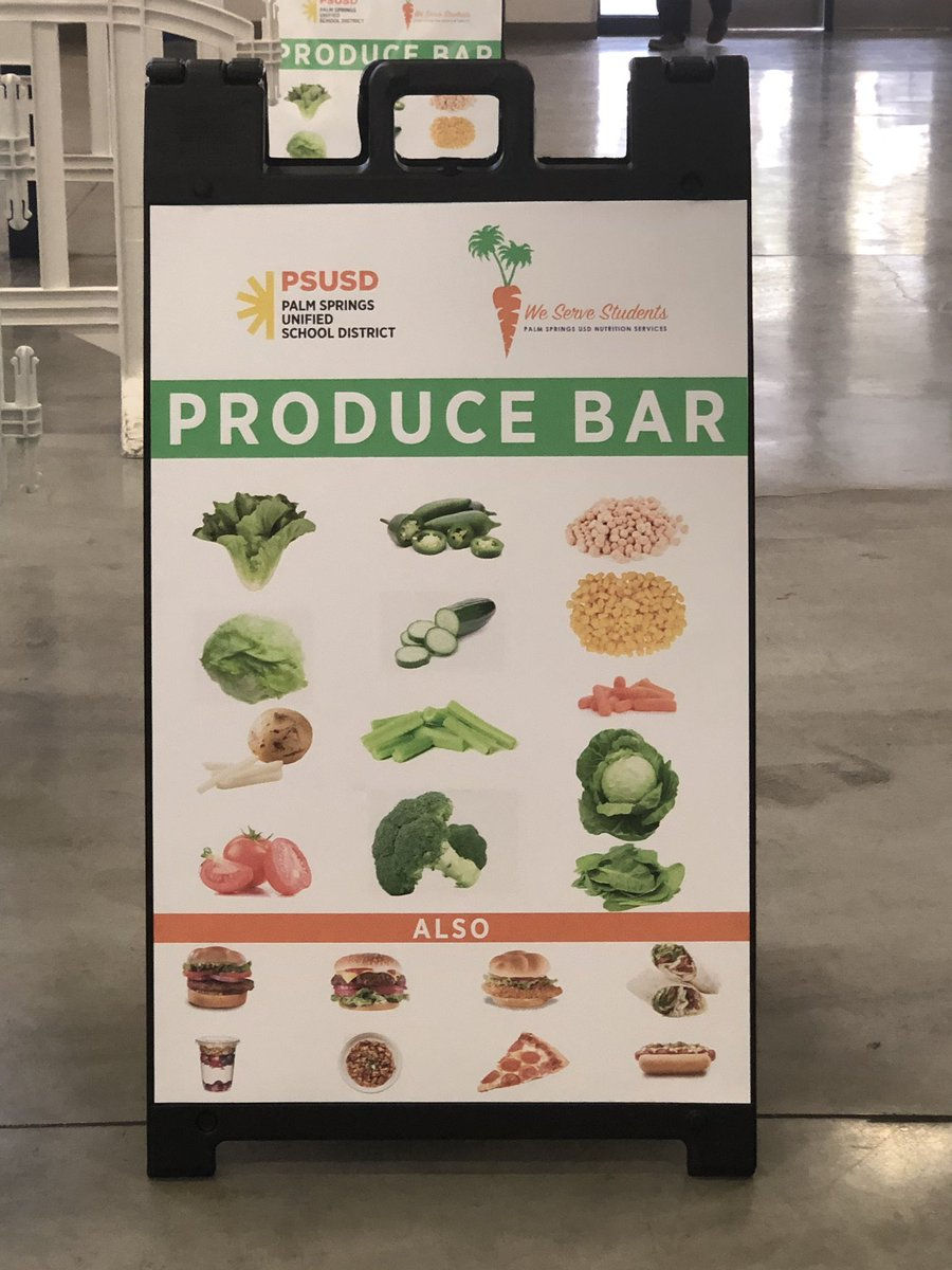 Excited for our new lunch produce bars starting today! Our @PSUSD @DhshsOfficial nutrition service staff are great at providing students multiple options to choose from! There's also an express line for those who don't want to put their own salad together. #WatchUsSoar <br>http://pic.twitter.com/Y49R2rrOSE