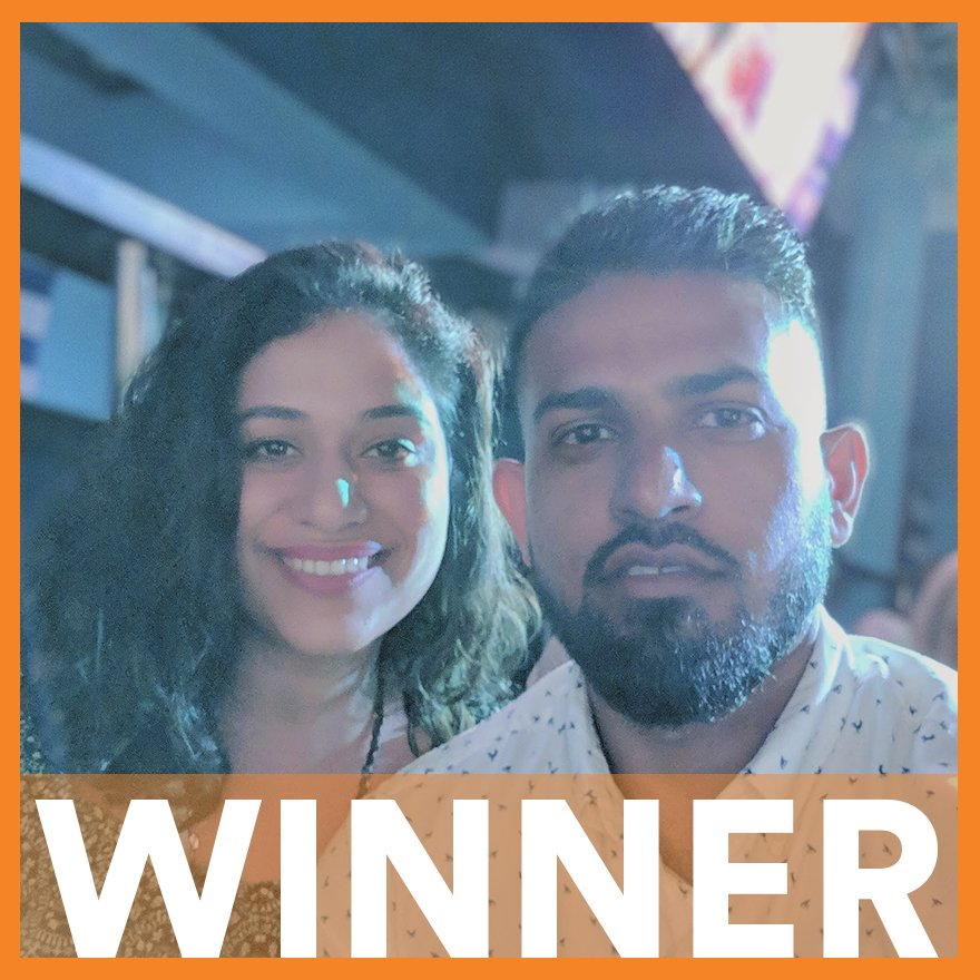 """""""Took my wife (then gf) to a @Raptors game as my first date 10 years ago...  We celebrated our 10th anniversary on March 14th so to be sitting down on the court beside my favourite team is the best anniversary gift and a dream come true!"""" – Zain, Winner of Tag to Win"""