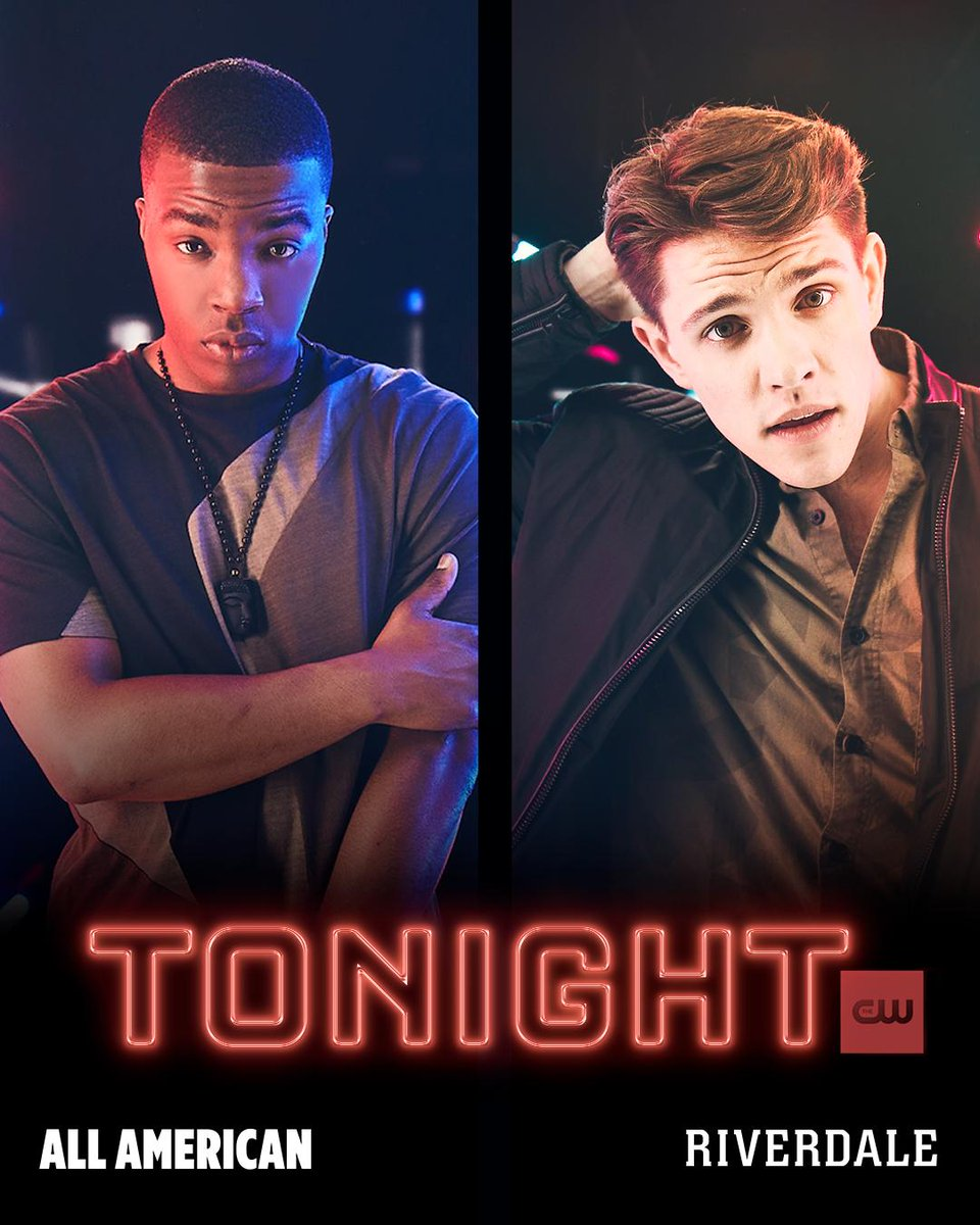 RT @CW_Riverdale: The spotlight's on them. #Riverdale and @CWAllAmerican are new TONIGHT starting at 8/7c on The CW! https://t.co/oWHmpJvvGX