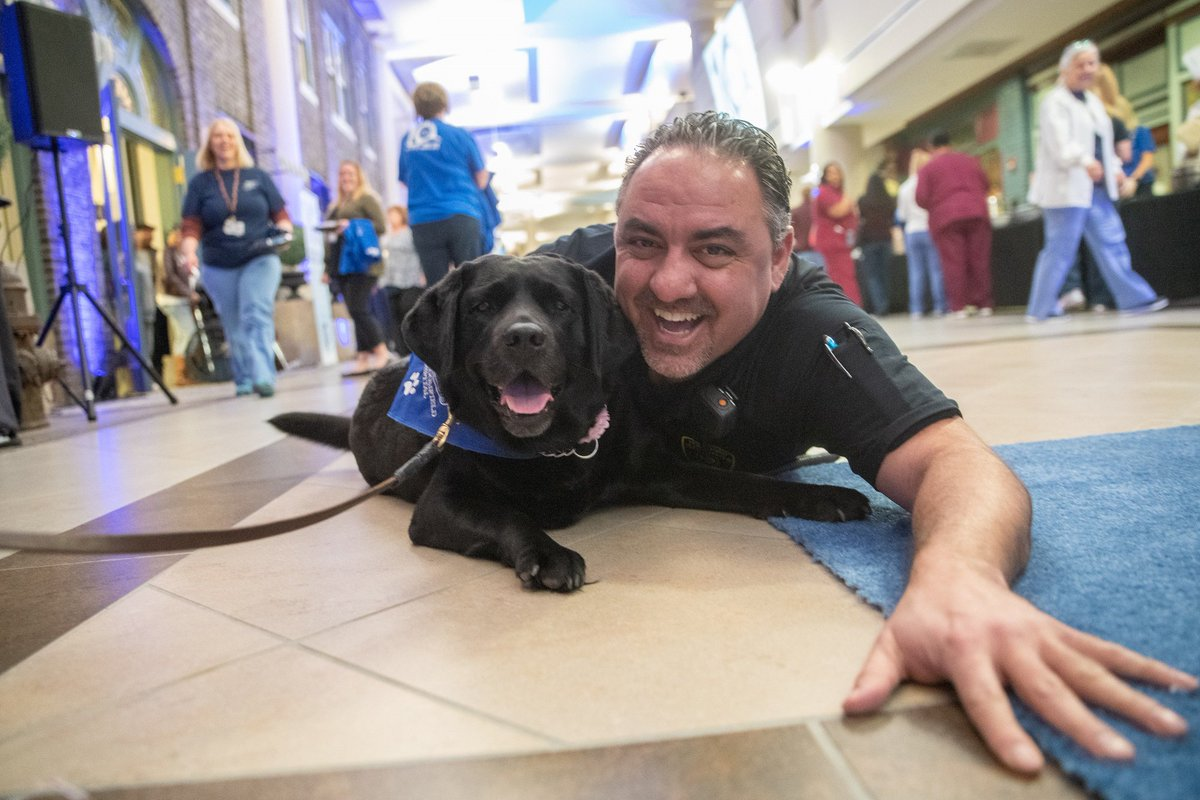 Woof! What a day. We had a blast celebrating the 10 year anniversary of Henry Ford West Bloomfield Hospital! 🐾🎉💙🏥