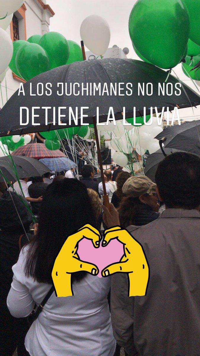 A los juchimanes no nos detiene la lluvia! #GalloUniversitario2019 @UJAT #GenUJAT