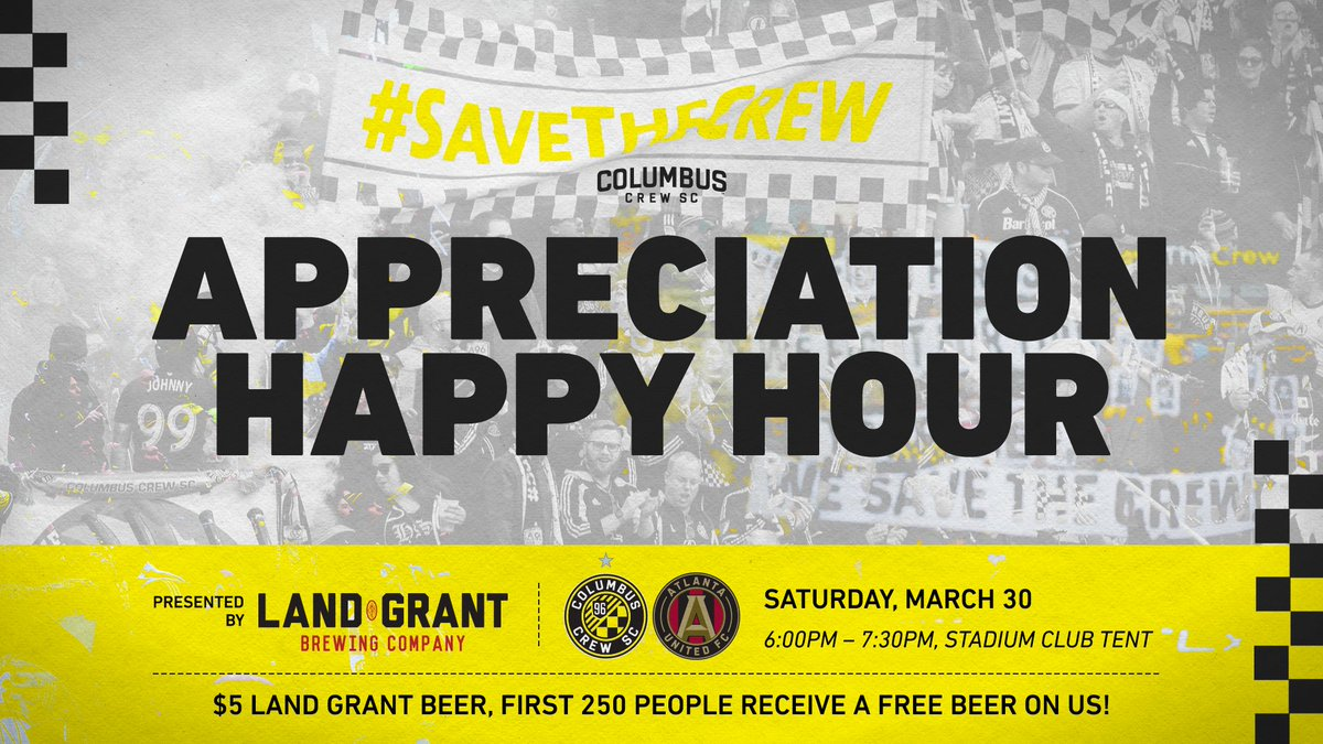 You made all of this possible!   We want to show our appreciation with a Happy Hour before #CLBvATL   #Crew96 <br>http://pic.twitter.com/aOCUo66nMN