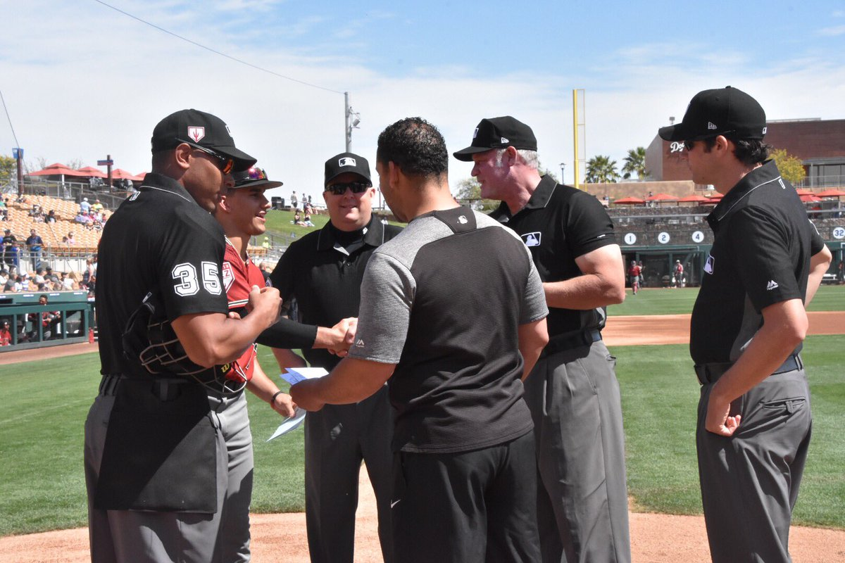 White Sox Director of Conditioning Allen Thomas participated in today's Lineup Card Exchange with his son, Alek Thomas, who was drafted by the @Dbacks in 2018.
