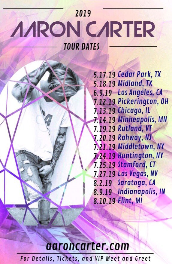 It's great to be home and have some down time, but I can't wait to get back on the road to see you guys!! Go to http://aaroncarter.com and grab your tickets for my upcoming shows! New dates to be added.