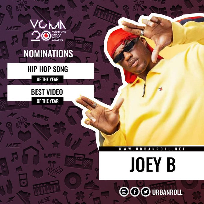 He was given two but it's cool. Let's help him  take them all .  #Hiphop_Song of the year #Best_video of the year @1RealJoeyB  🔥🔥🔥🔥🔥🔥🔥 Real niggvs from Ghana please vote for him, his music style is Dhope.