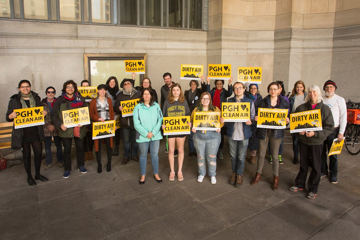 Happy First Day of Spring! We celebrated by rallying for #cleanair in #Pittsburgh.