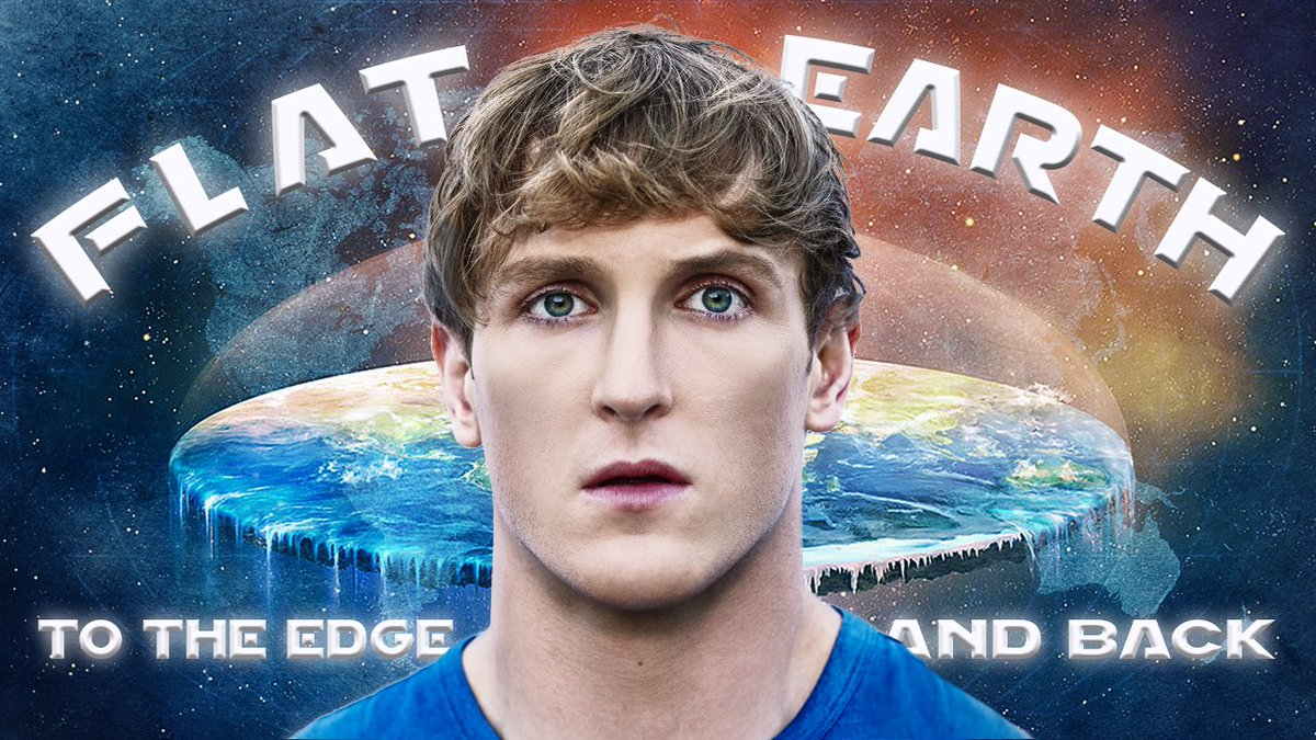 Image result for logan paul flat earth