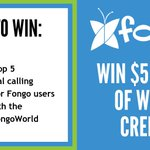 Contest Time! 🙌 Win $5 worth World Credits!  1. Follow @Fongo_Mobile  2. Guess the Top 5 int'l calling countries for Fongo users 🤔 3. Retweet this post  The person with the most correct answers will receive $5 in World Credits.  Contest Ends March 27, 2019.
