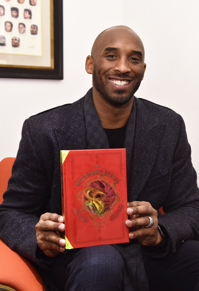 """.@kobebryant introduced his new book, """"The Wizenard Series: Training Camp"""" at the @NBASTORE yesterday! #Wizenard   📖: http://wizenard.com"""