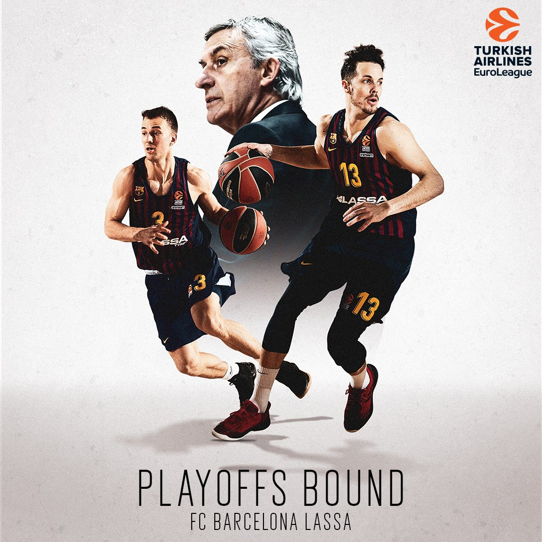 It also means...  @FCBbasket is heading to The Playoffs 👏  #GameON