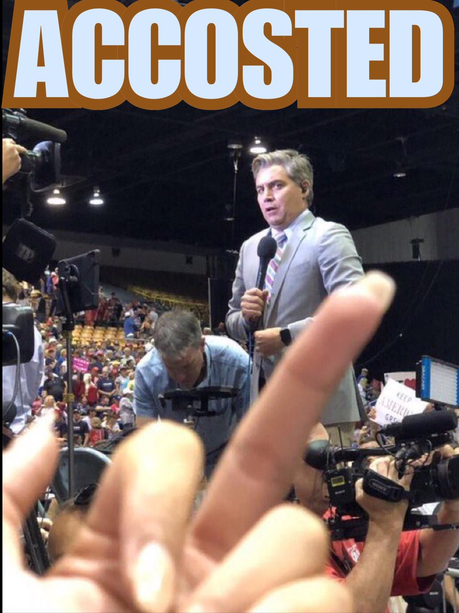 There is only one way to handle #FakeNews @Acosta !!!  From #Patroits  across America  🇺🇸🇺🇸 👇🏼👇🏾👇🏾👇🏾👇🏾 👇🏼👇🏼👇🏼