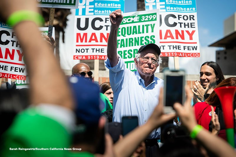 RT @sarahimages: Presidential candidate Bernie Sanders joins striking UC workers at UCLA https://t.co/z1pgqt8jlj