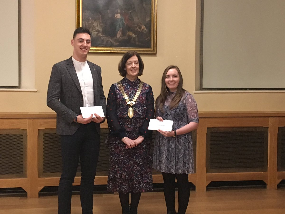 Cathal Dunne and Aisling Reilly with ASTI president Brenda Lynch, recipients of the ASTI best overall result prize in the BScEd. The future looks bright!! @ToddSharon_ed @MajellaDempsey @arickard #BScEd