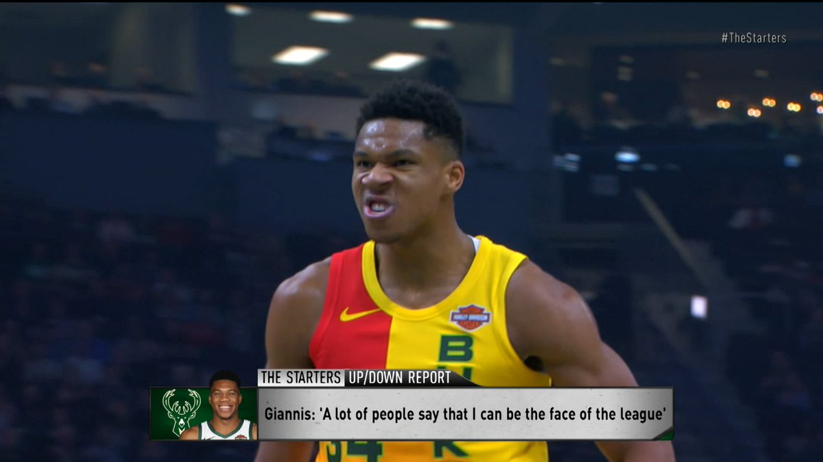 Bucks' @Giannis_An34 has been told by people close to him that his background will prohibit him from being the face of the NBA. #TheStarters discuss.