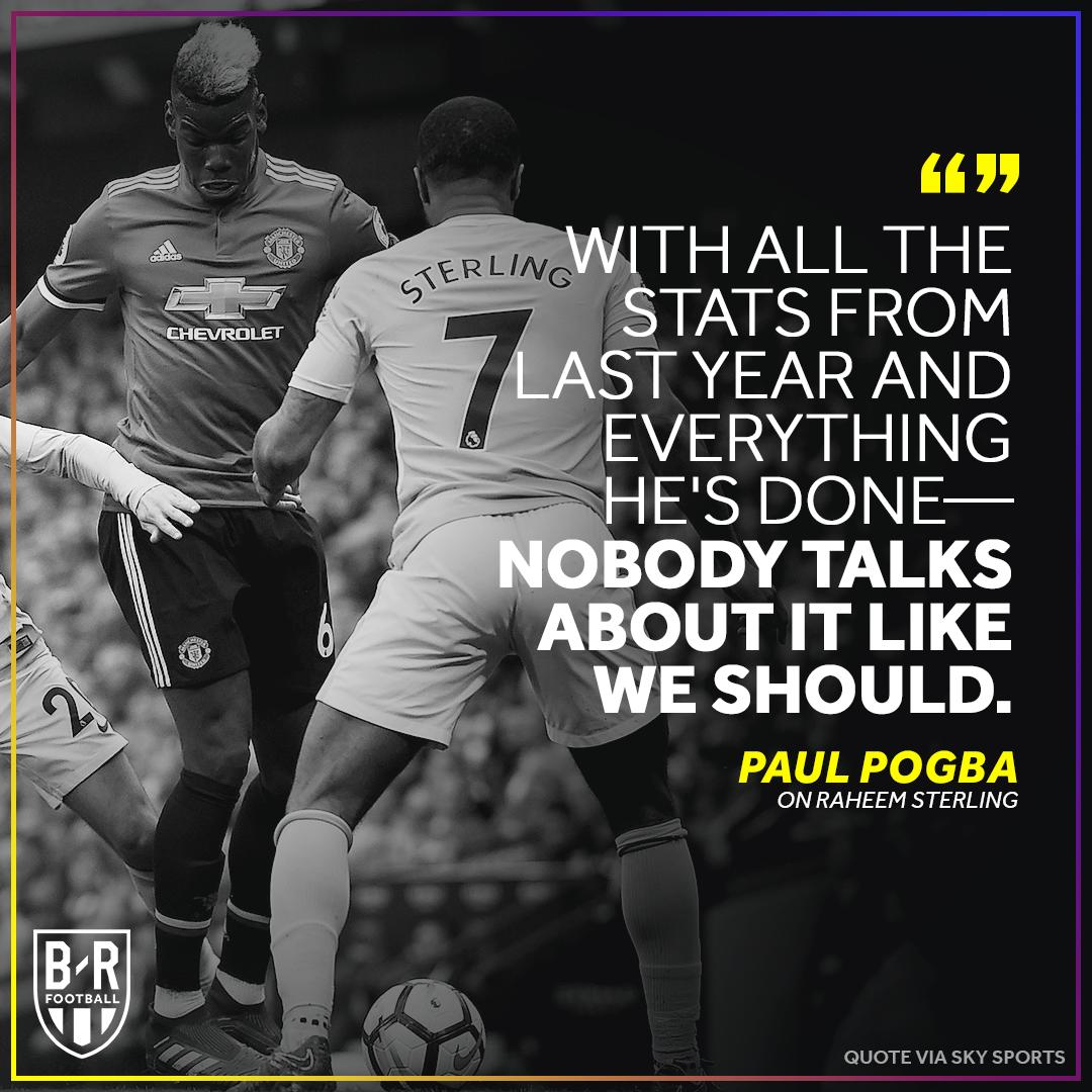 Pogba stands up for Raheem Sterling 🙏