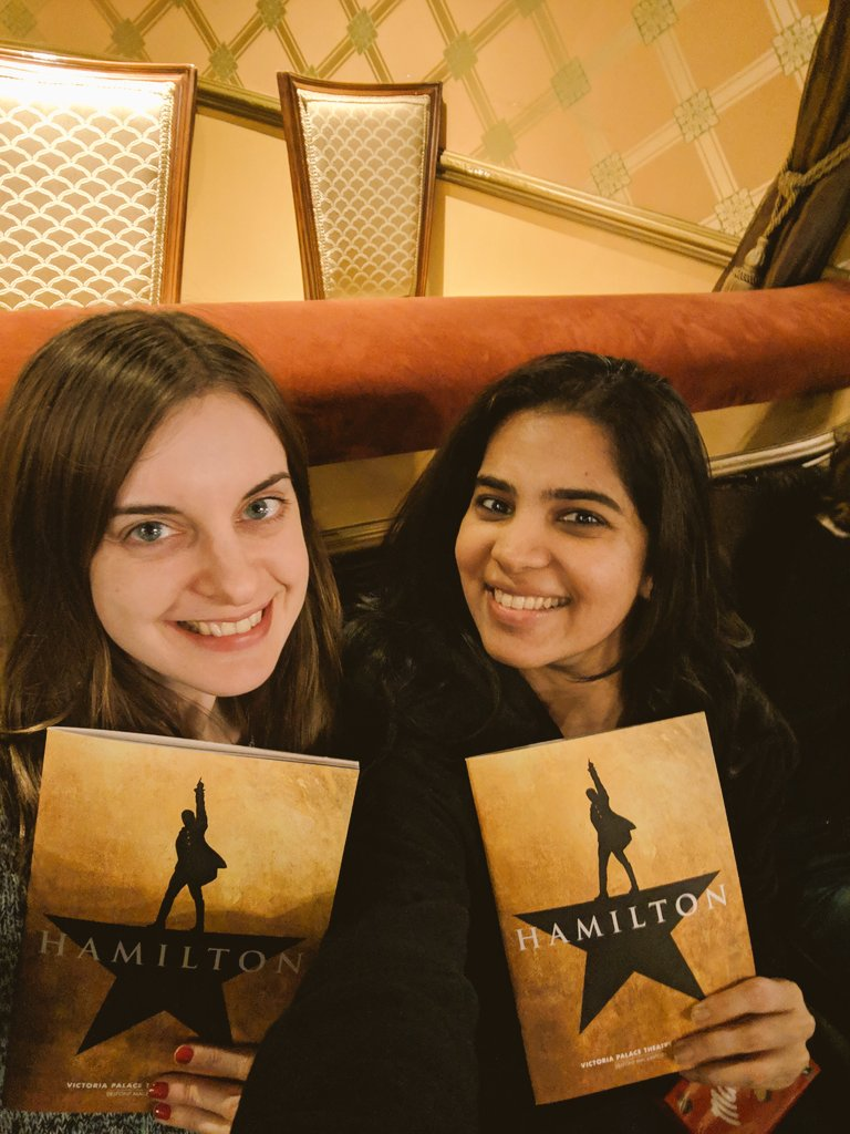 @HamiltonWestEnd tonight with @RosieGnome 😍💥💃🕺