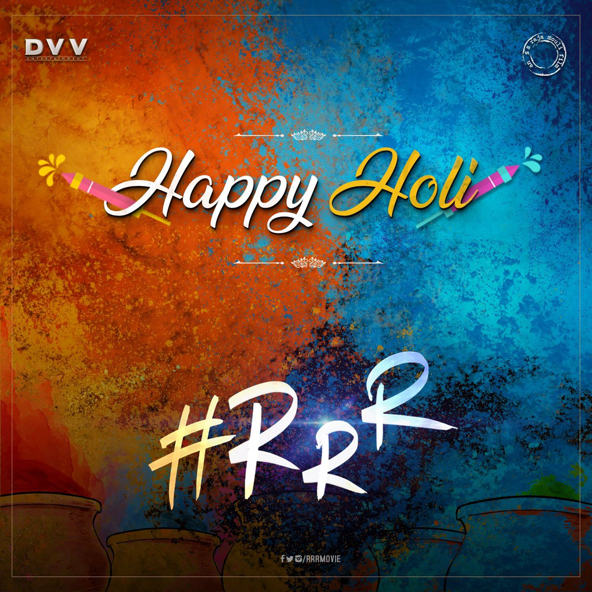 RRR Movie's photo on #Holi2019
