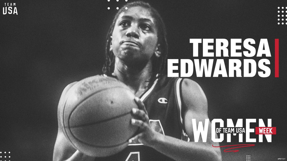 5⃣x Olympian Teresa Edwards — the youngest (age 20) and oldest (age 36) gold medalist in women's basketball Olympic history — continues to give back to the game that helped shape her life.  📰: http://go.teamusa.org/2UNJaFI  | #WomenOfTeamUSA