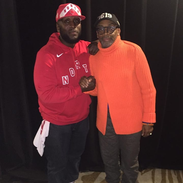 Bless up to one if the greatest filmakers and social justice our pioneers of the modern era #SpikeLee who turns 62 today. This was the first time I got to meet the man so influencial in many perspectives of my trying to find some true perspective in this world.  #SpikeLeeJoints