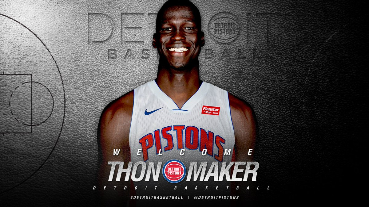How many RTs for a signed Thon Maker jersey? @ThonMaker14 @DetroitPistons  #DetroitBasketball