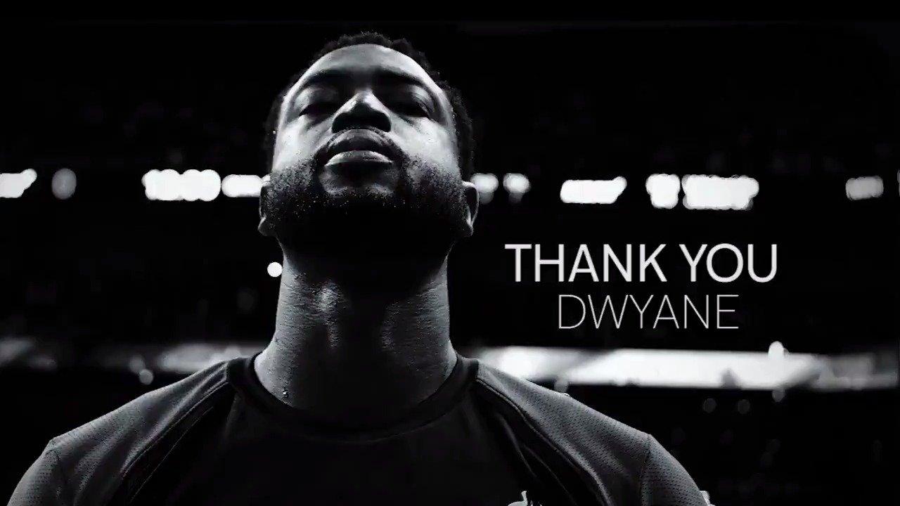 Thank you, D Wade!  #OneLastDance https://t.co/qMcInKGsAU
