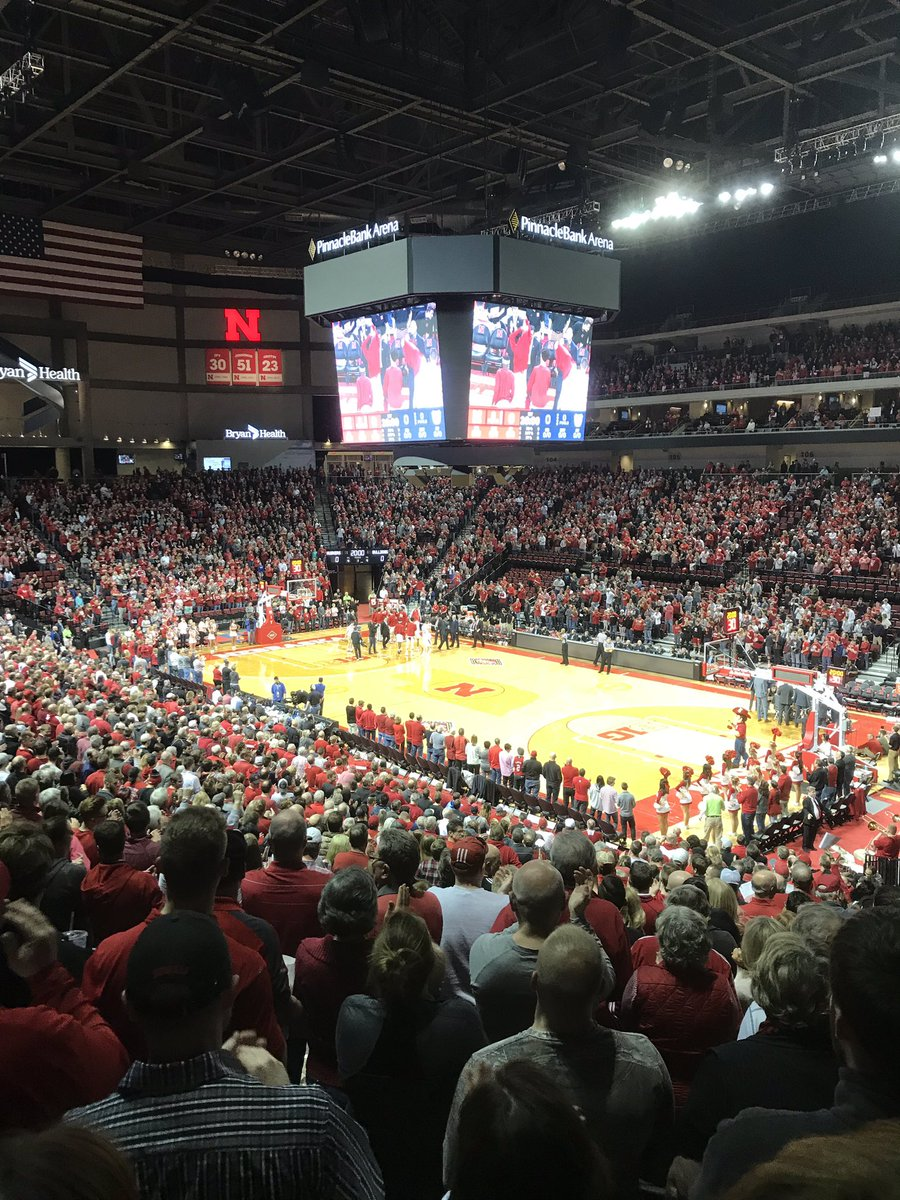 Yeah, I'm here. Sending Tim Miles off with a bang. This place is rocking. Good on ya, #Nebrasketball fans<br>http://pic.twitter.com/JV6xUaZ99W