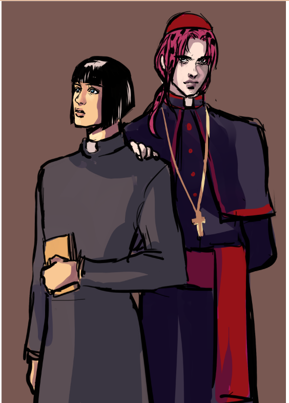 I wOndEr WhO tHe BaD GuY iS ok this an au that was born on discord and I love it hahaha  OOF FATHER BRUNO <br>http://pic.twitter.com/9qo3SFmdzE