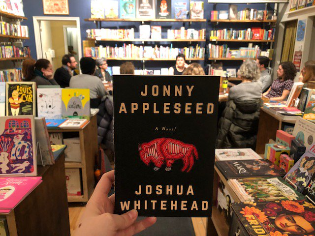we just wrapped up our second Indigenous Literatures Book Club! Read the recap on the blog: http://mtl.drawnandquarterly.com/posts/indigenous-literatures-book-club-jonny-appleseed-by-joshua-whitehead … @JWhitehead204 @girthgirl @Arsenalpulp