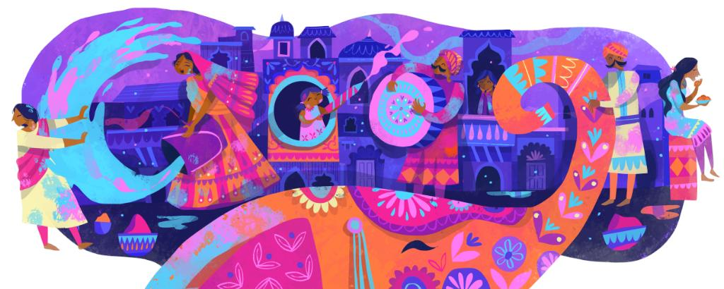 "Holi is called the ""festival of colors&quot; thanks to its unique powder-throwing tradition, but it&#39;s also known as the ""festival of love,&quot; a time for coming together &amp; positivity.  Thanks to guest artist @chaayaprabhat for creating today&#39;s #GoogleDoodle! →  http:// bit.ly/2uiRVfB  &nbsp;   <br>http://pic.twitter.com/oep1gh9xeK"