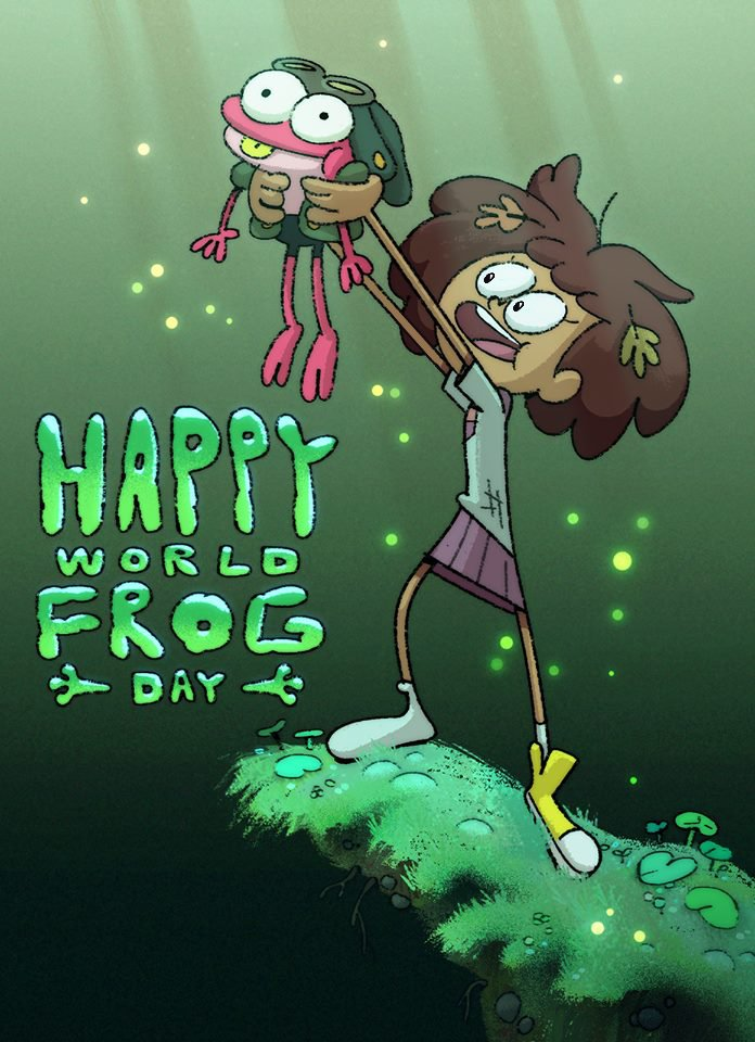 HAPPY #WorldFrogDay from Amphibia!!!! Art by genius art director Ian Worrel!! <br>http://pic.twitter.com/J7re5PJWJR