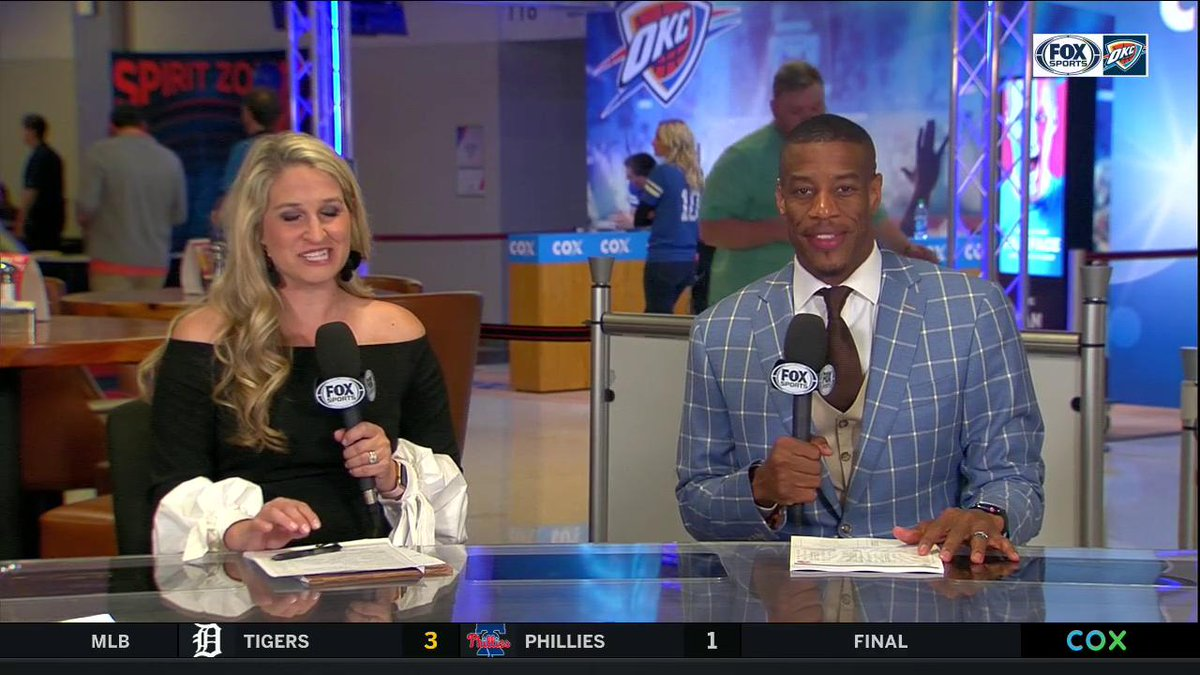 """This dude has spent 15 years with the same organization, and he has represented this organization and this community in the right way for all 15 years"" -@adaniels33  #4MrThunder 