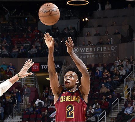 For #Cavs: @CollinSexton02, 25pts, 10-18FG, 4-7 3ptFG, 2reb, 2asst - first rookie in team history to score 23+ in 7 straight gms; @JordanClarksons, 23pts, 9-17FG, 5reb, 2asst, 2stl; @Goodknight11, 13pts, 4asst; Ante Zizic, 10reb (6off); @kevinlove, 10reb.