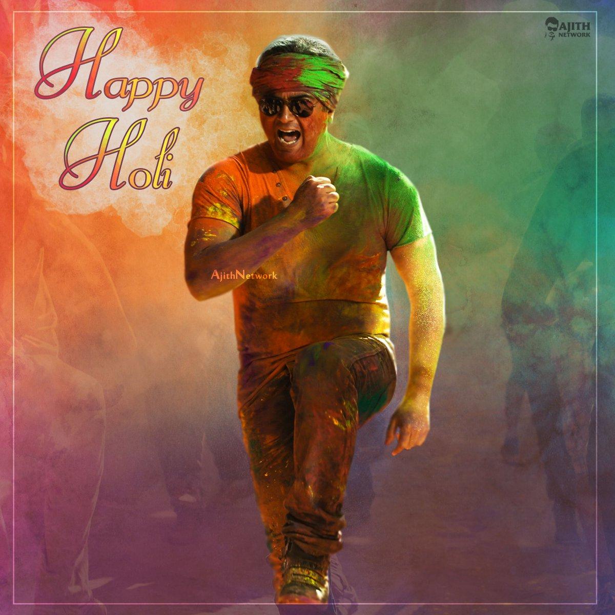 Happy Holi 🎊🎉     #Thala #Ajith