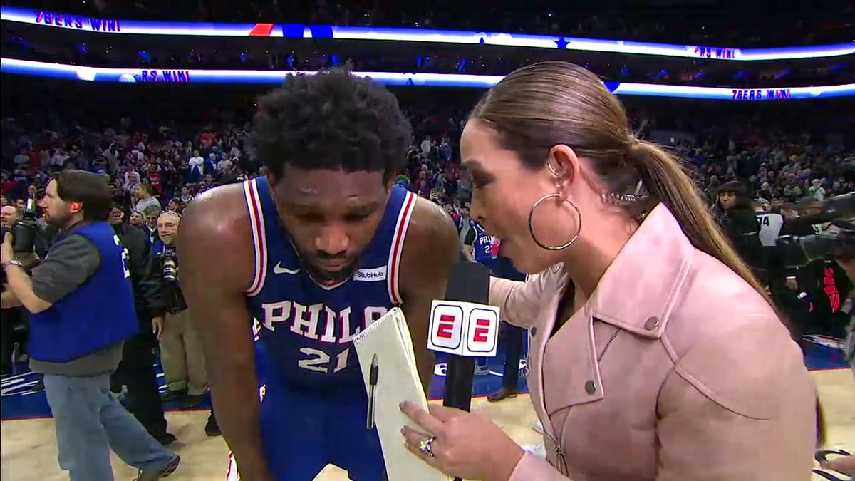 """""""I'm the most unstoppable player in the league."""" – @JoelEmbiid"""