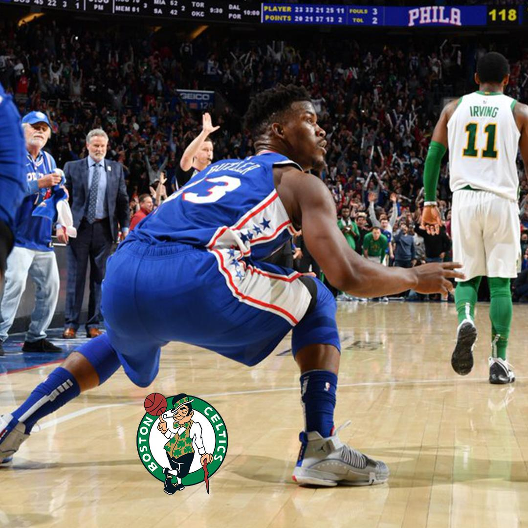 jimmy butler dropping a d*uce on the celtics you truly truly hate to c it