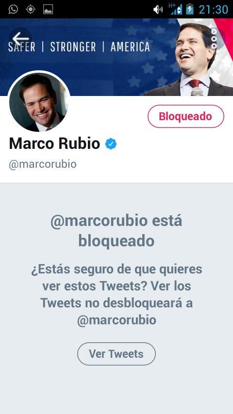 RT @Escacente: #MarcoRubioBLOCKED leal siempre traidor nunca https://t.co/1XrO4s0nhL
