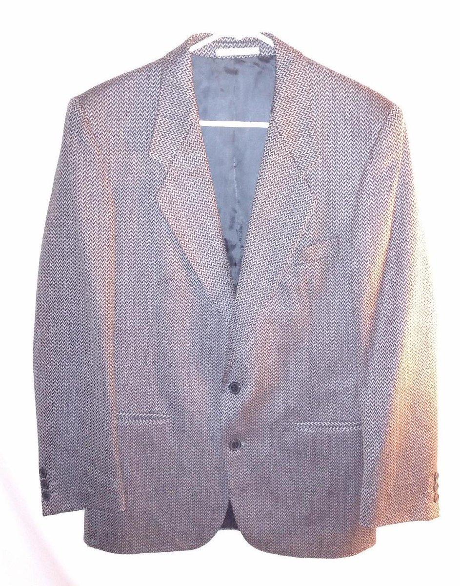 7c4d0895 Yves Saint Laurent Mens Black Gray White Herringbone Sport Coat Wool Size  40R https://www.ebay.com/itm/132996489841 …