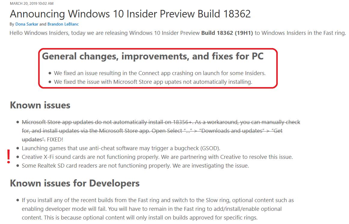Windows Insider Fast Ring