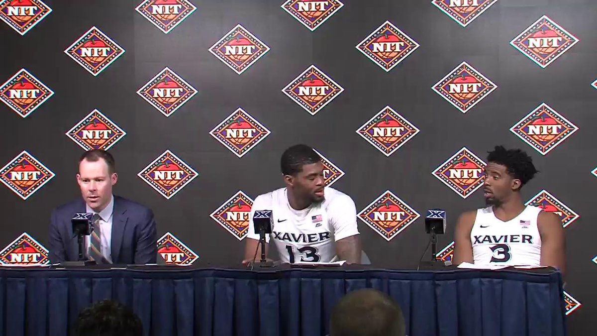 WATCH | Head coach Travis Steele, Naji Marshall and Quentin Goodin speak to the media following Xavier's  78-64 win over Toledo. #LetsGoX
