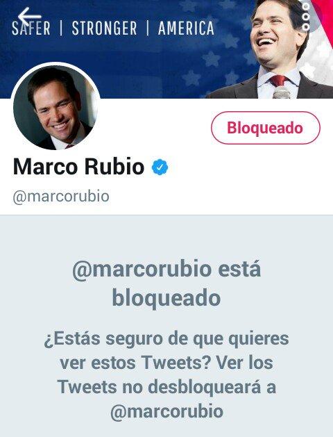 RT @eglis_mg: #MarcoRubioBLOCKED Leales siempre traidores nunca https://t.co/U88S0bTN13
