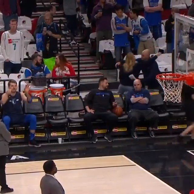 Luka Doncic with the effortless toss from the bench! #NBARooks #MFFL