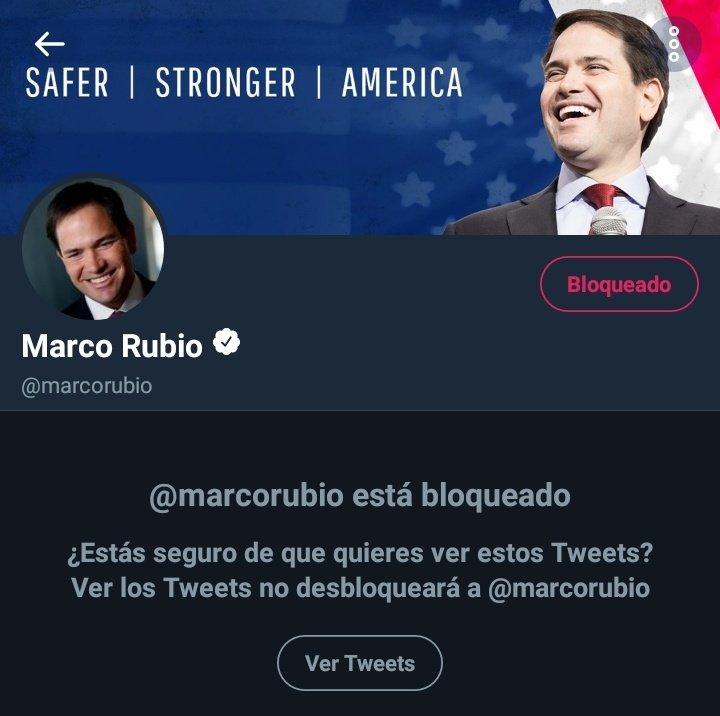 RT @JEHYSONGUZMAN: Todos y todas #MarcoRubioBLOCKED BLOQUEO A @marcorubio ¡VENEZUELA SE RESPETA! https://t.co/hq5UmfuWpV