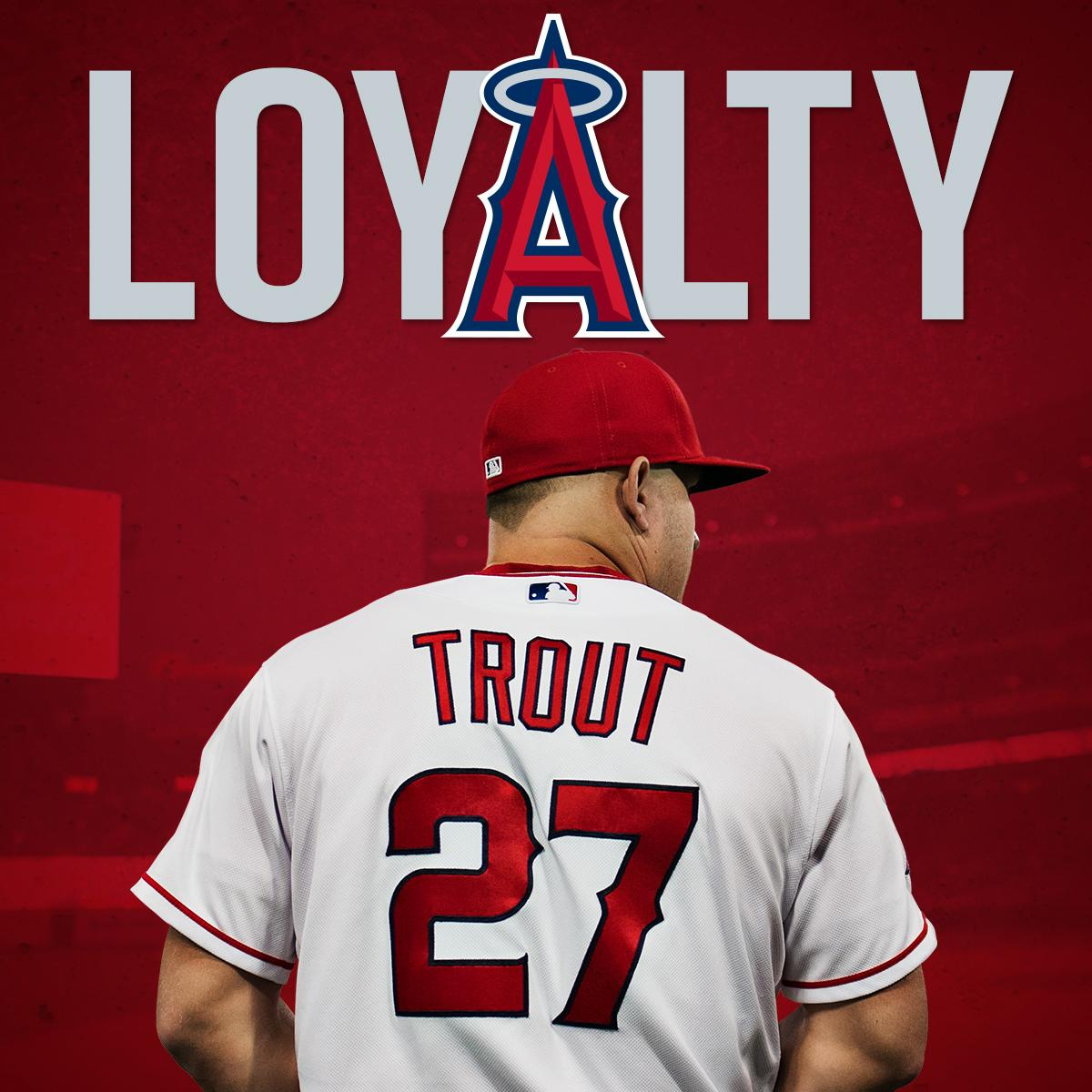 OFFICIAL: @MikeTrout agrees to terms on a 12-year contract.
