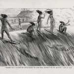 Image for the Tweet beginning: Native Hawaiian surfing originated approximately